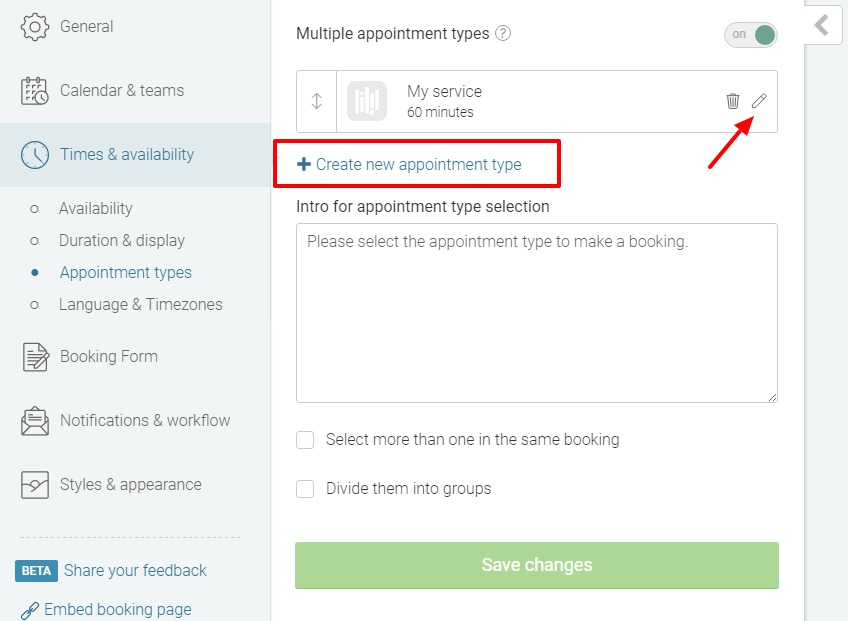 Setting up Appointment Types - YouCanBookme Knowledge Base
