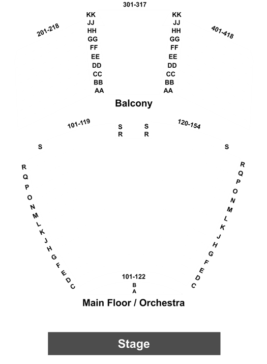 walton arts center seating diagram
