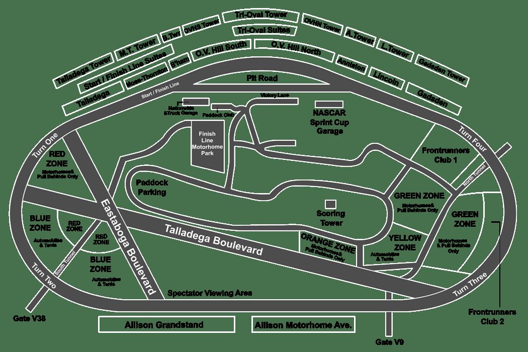 bristol motor speedway seating diagram nrg