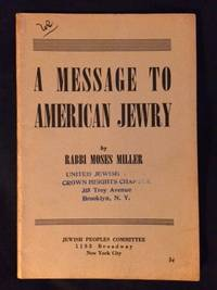 A Message to American Jewry