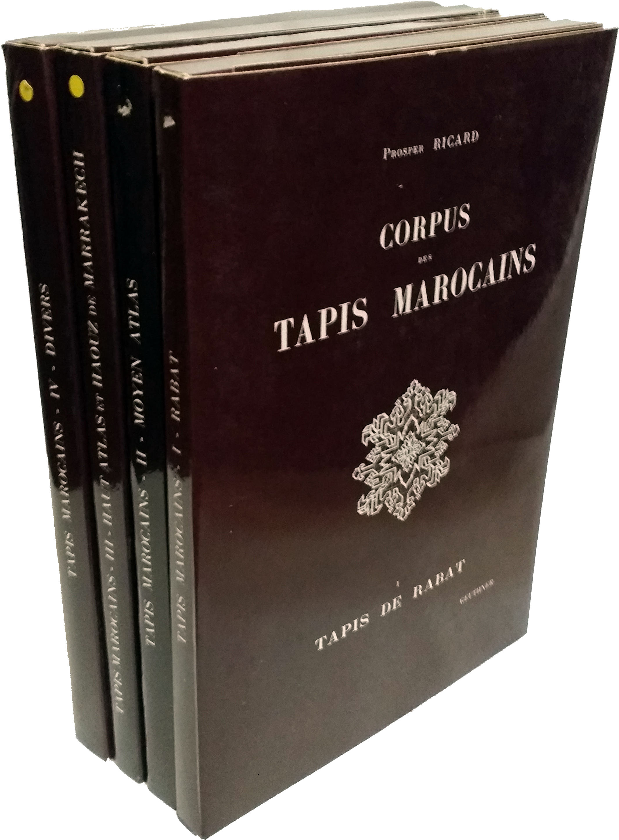 Tapis Marocain Paris Corpus Des Tapis Marocains 4 Volumes By Prosper Ricard 1975 From Rugbooks Ioba And Biblio