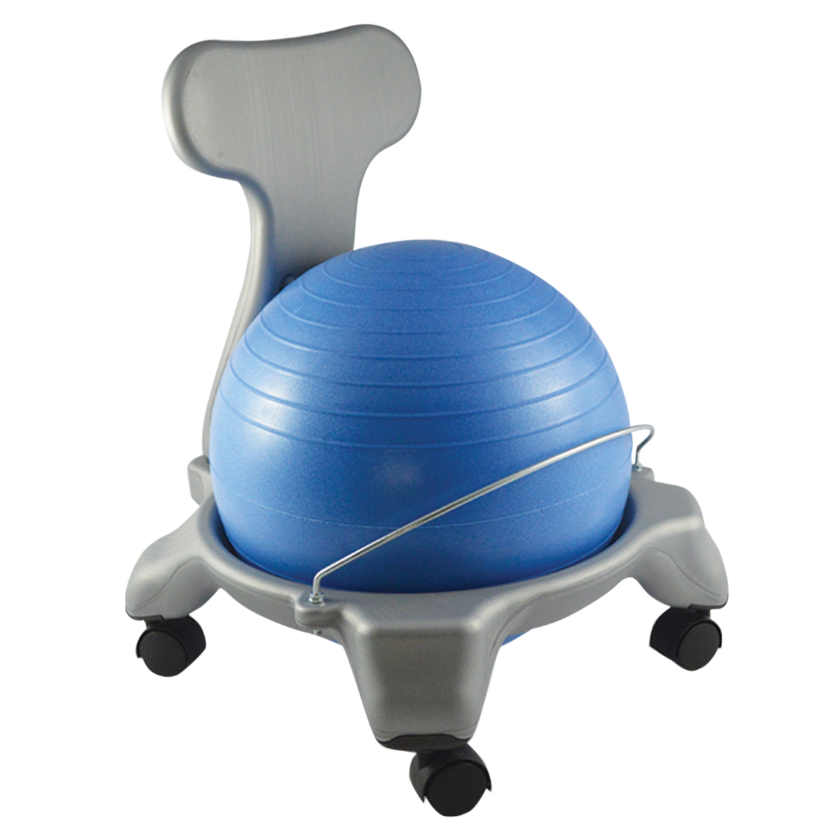 Ball Chair Cando® Ball Chair - Plastic - Mobile - With Back - Child Size - With 15\