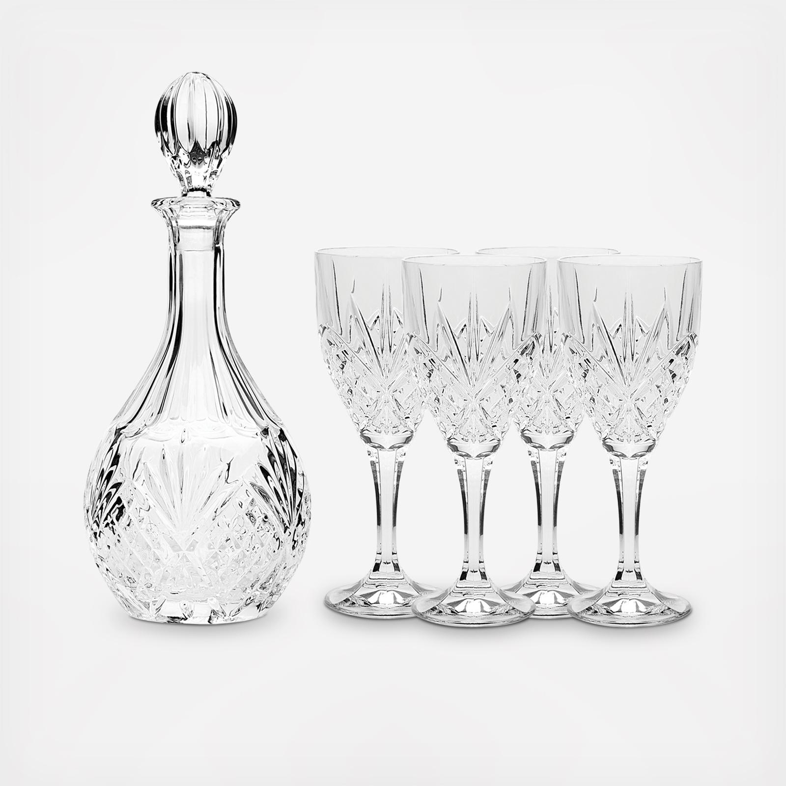Decanter Wine Glas Dublin Decanter Wine Glass Set By Godinger Wedding Planning Registry Gifts