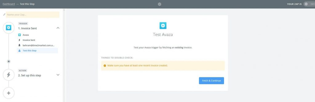 Avaza integration with Quickbooks