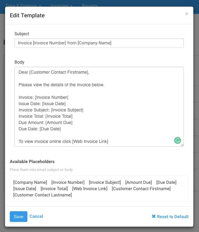 Address your customer contact on Avaza Quotes  Invoices