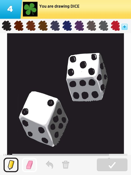dice drawing