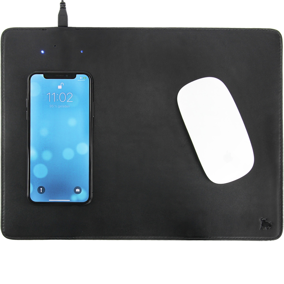 Qi Ladestation Wireless Charging Mousepad Leder Mousepad Mit Qi Induktion