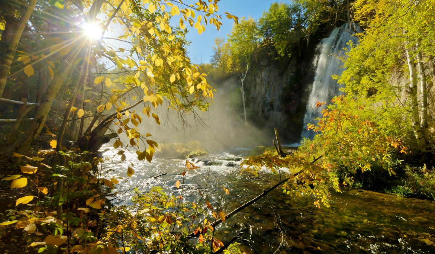 Michigan Fall Colors Wallpaper Spearfish Canyon State And National Forest Service Scenic