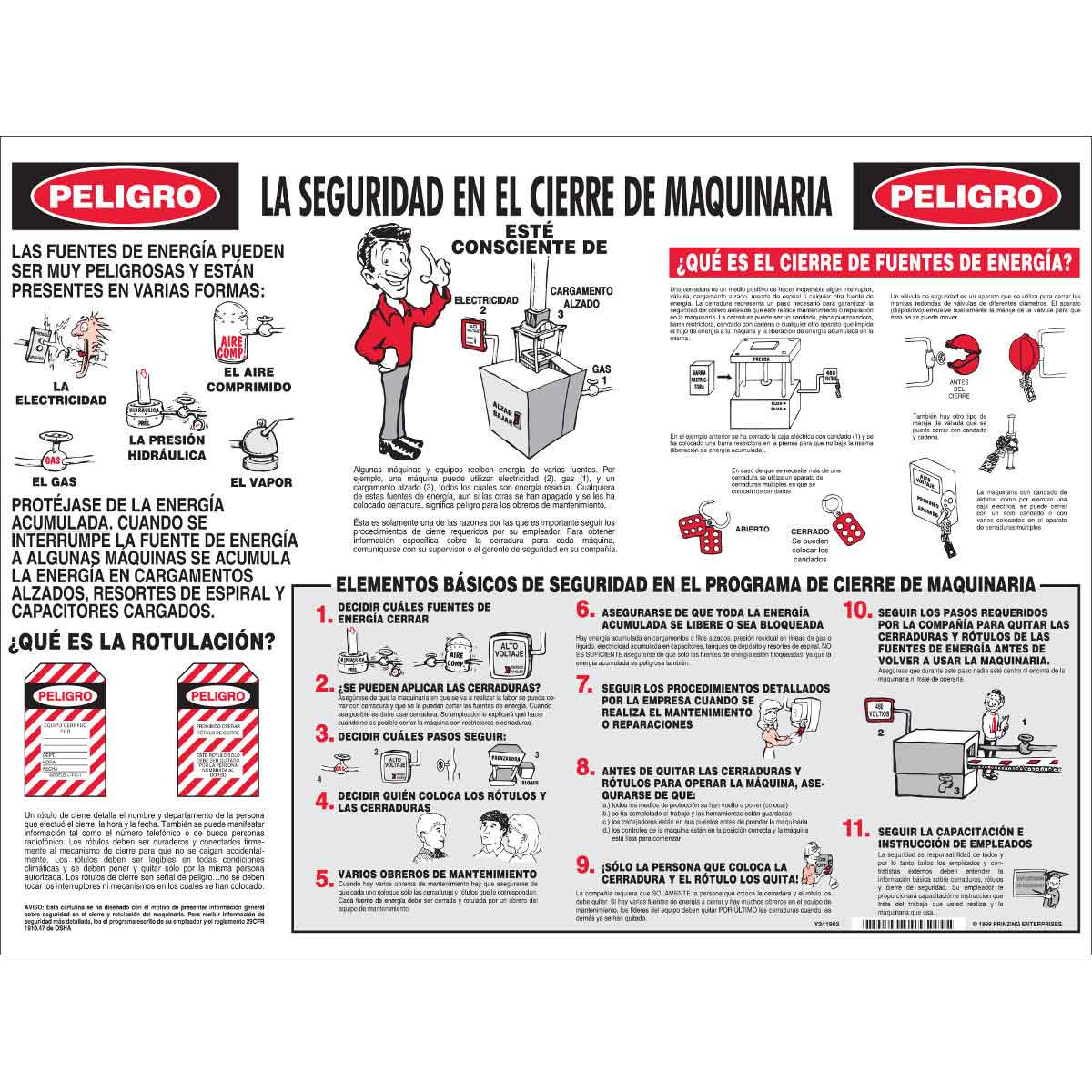 Poster In Spanish Lockout Safety Poster Spanish