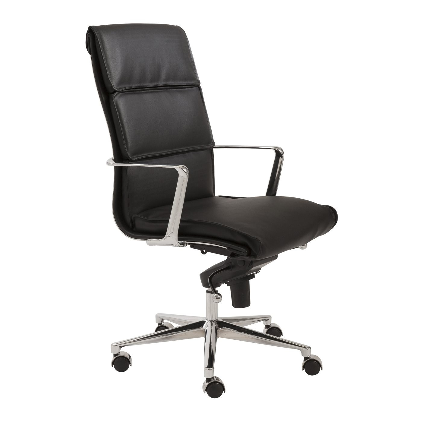 Office Chair Styles Leif High Back Office Chair With Black Leatherette