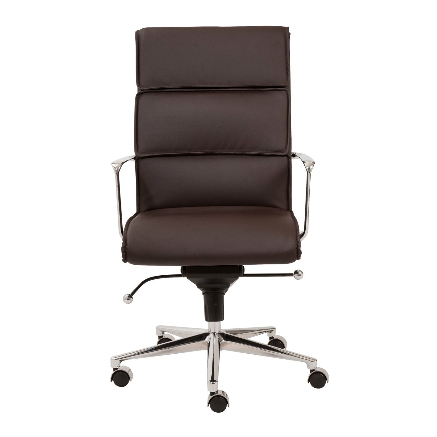 Office Chair Styles Leif High Back Office Chair With Brown Leatherette