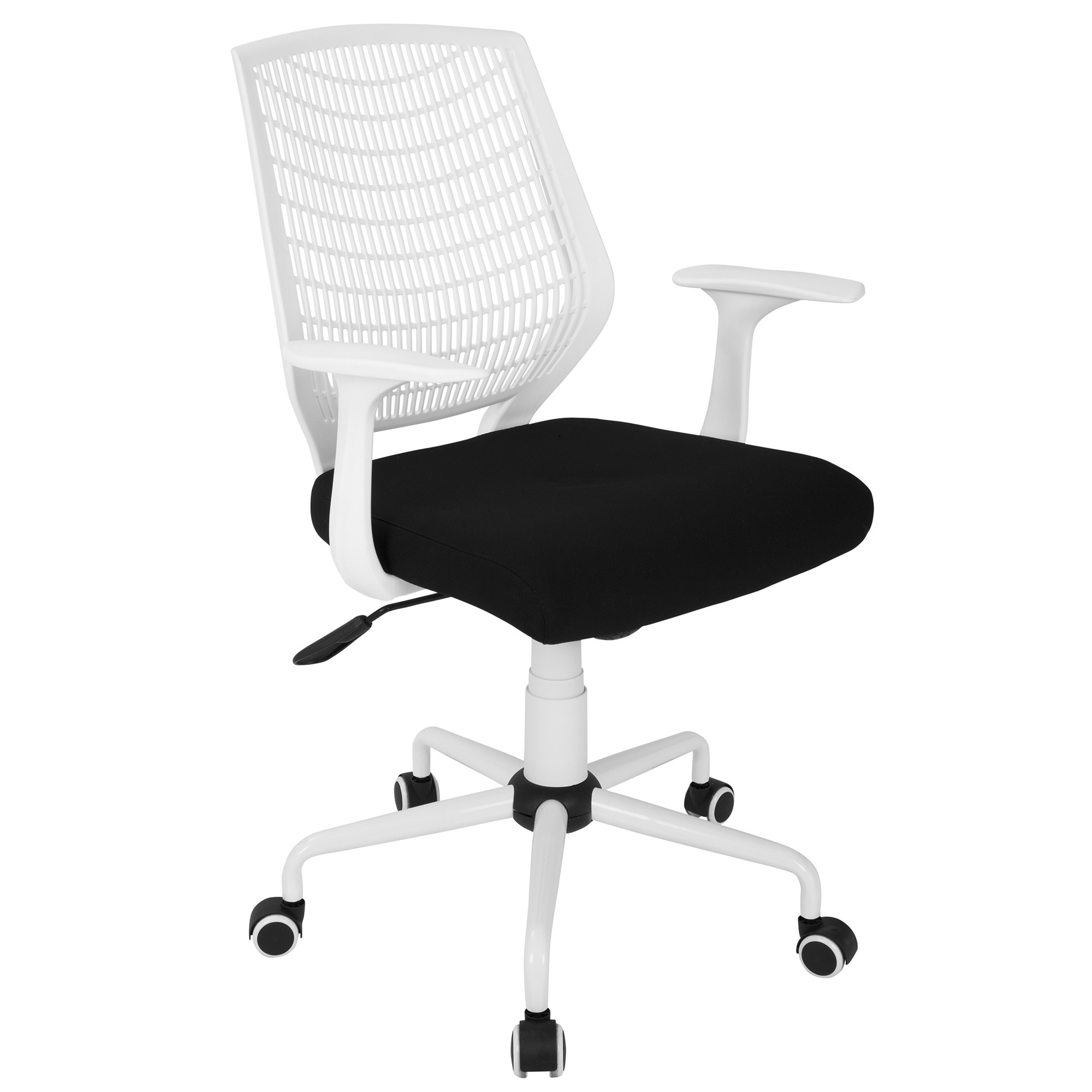 White And Black Office Chair Network Office Chair In White Black By Lumisource