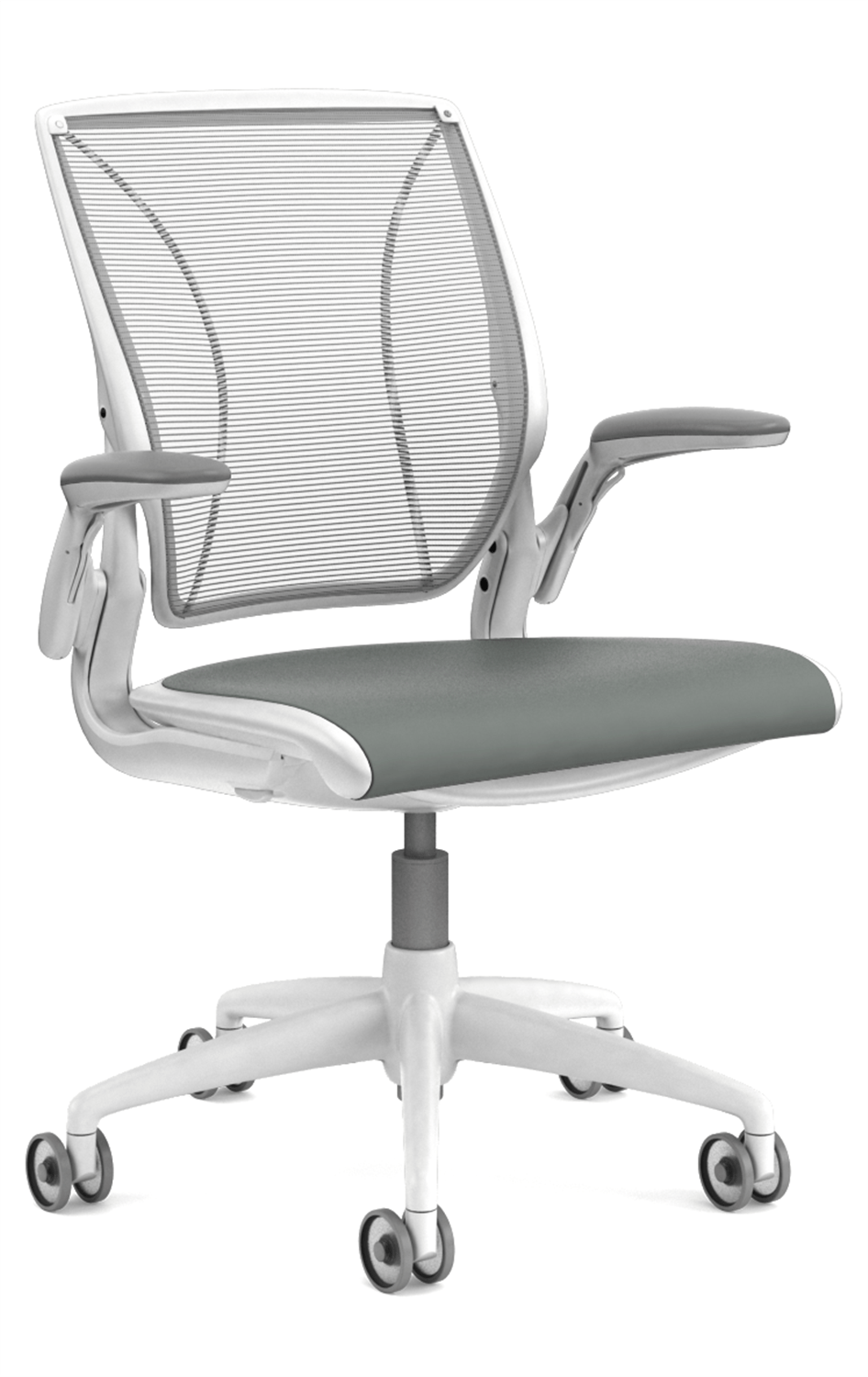 Grey Desk Chair Diffrient World Mesh Desk Chair In White By Humanscale