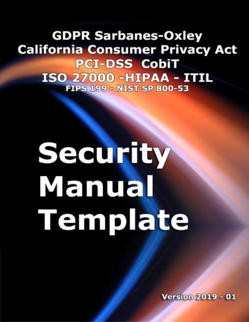 Security Manual Template - Version 2019 - Research and Markets