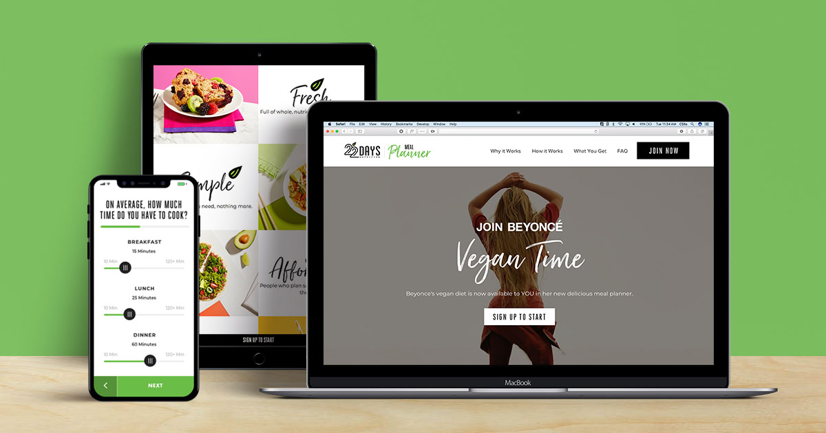 The 22 Days Nutrition Meal Planner - It\u0027s vegan time!