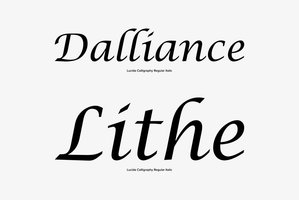 Lucida Calligraphy Regular Font Free Download Lucida Calligraphy