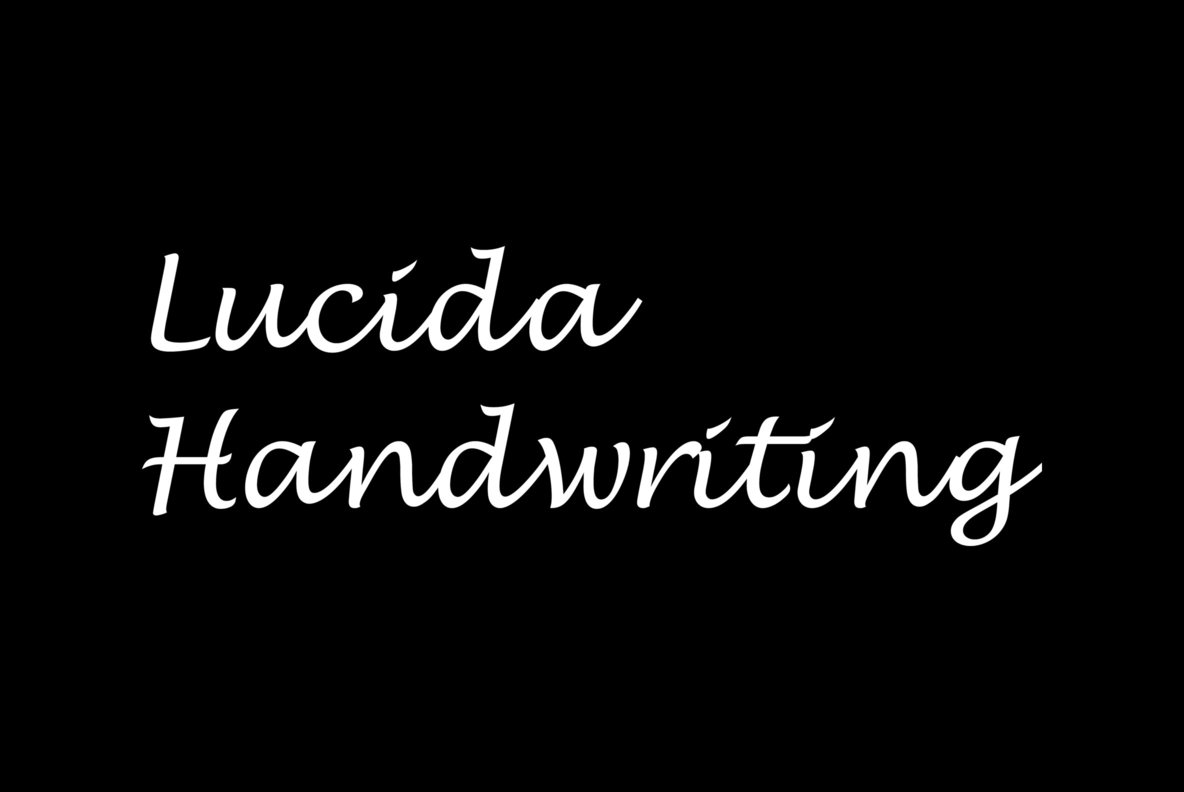 Lucida Calligraphy Regular Font Free Download Lucida Handwriting