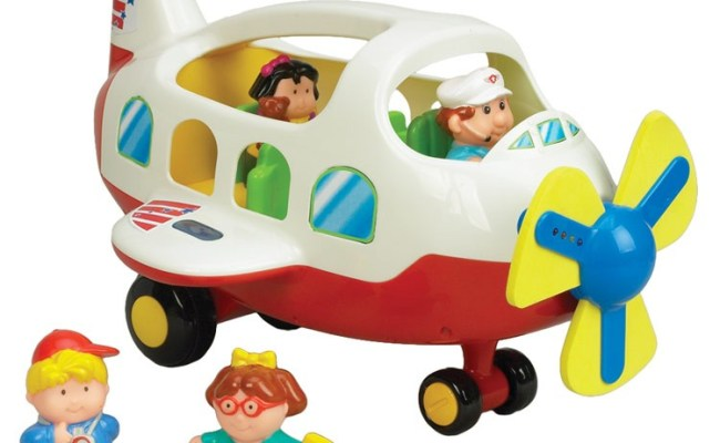 Activity Toy Plane Light Sound Playset For Toddlers