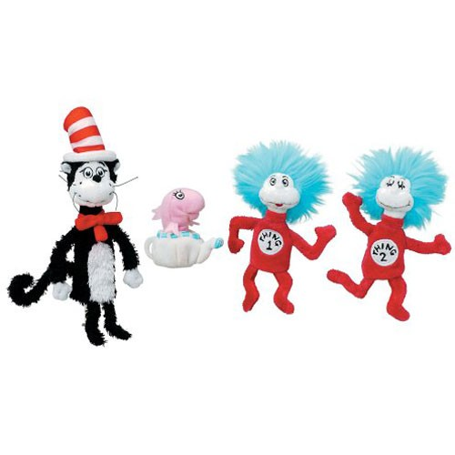 The Cat in the Hat 4 Finger Puppets Set - Educational Toys Planet