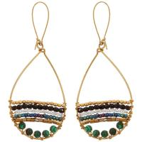 Sasa Malachite Hoop Earrings : The Hunger Site