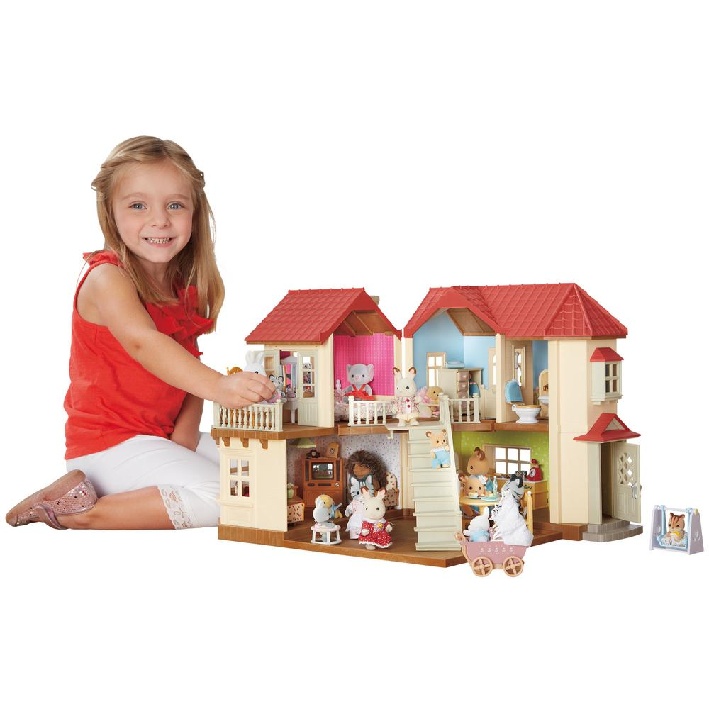Snazzy Tap Calico Critters Townhome Gift Set Kidstuff Calico Critters House Furniture Calico Critters House Wallpaper baby Calico Critters House
