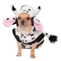 Cow Hoodie & Tail Pet Costume : The Animal Rescue Site