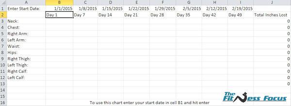 body measurement tracker spreadsheet - Ukransoochi