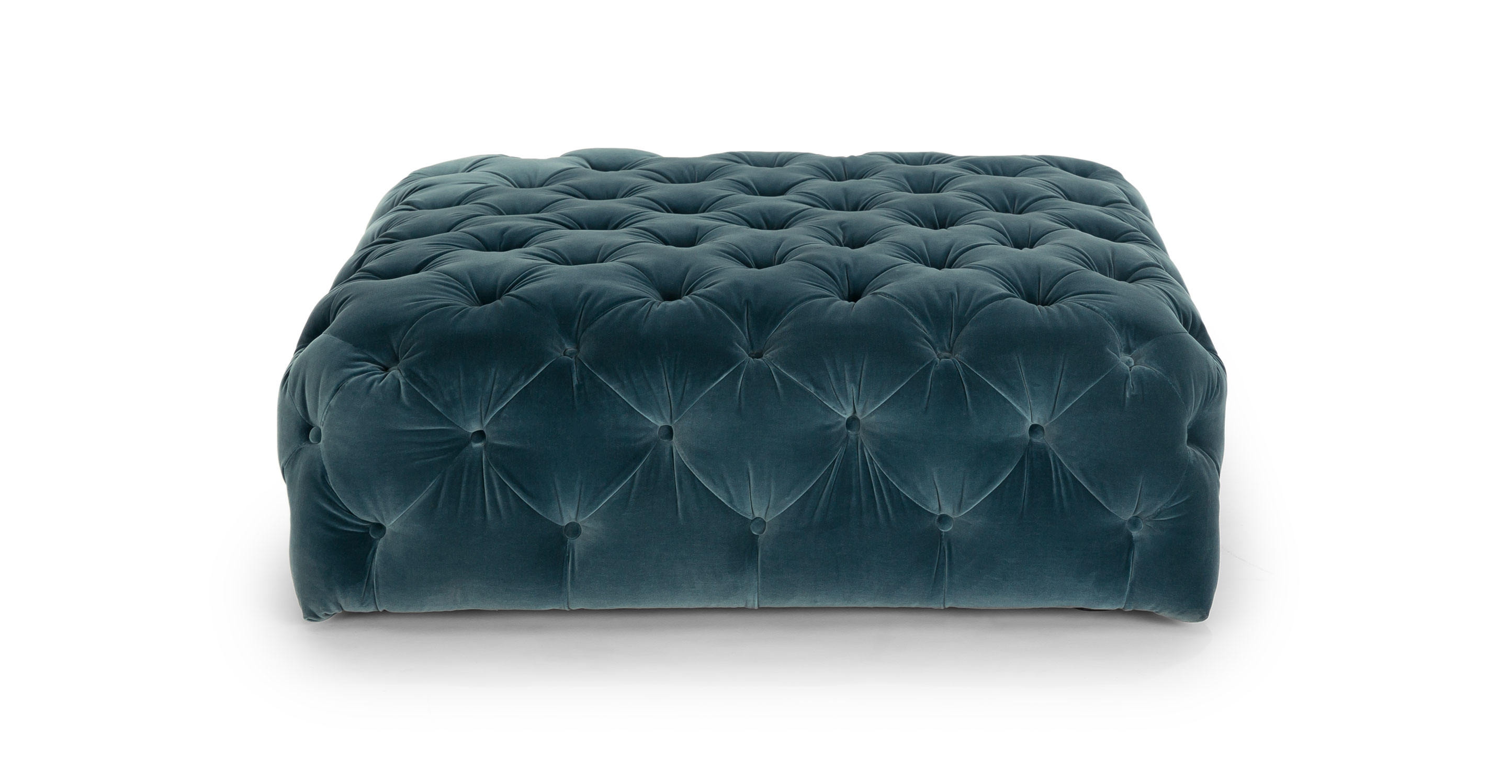 Sofa Upholstery Parts Diamond Pacific Blue Ottoman - Ottomans - Article | Modern