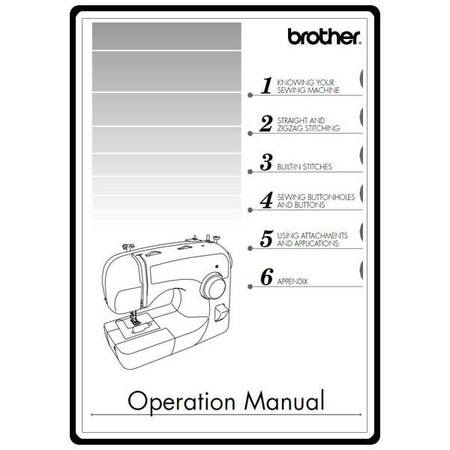 Instruction Manual, Brother XL-2610  Sewing Parts Online - instruction manual