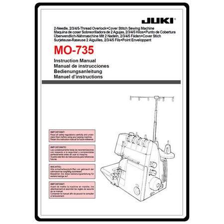 Instruction Manual, Juki MO-735  Sewing Parts Online - instruction manual