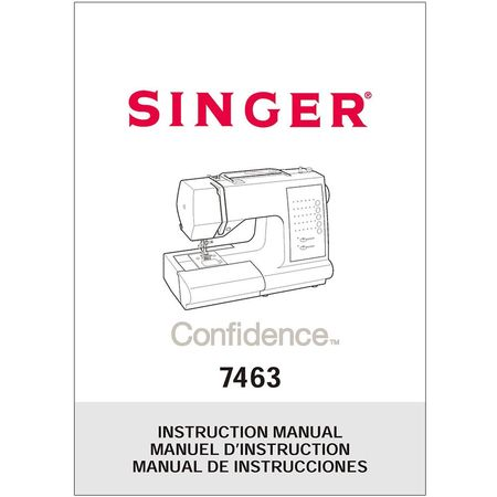 Instruction Manual, Singer 7463 Confidence  Sewing Parts Online - instruction manual