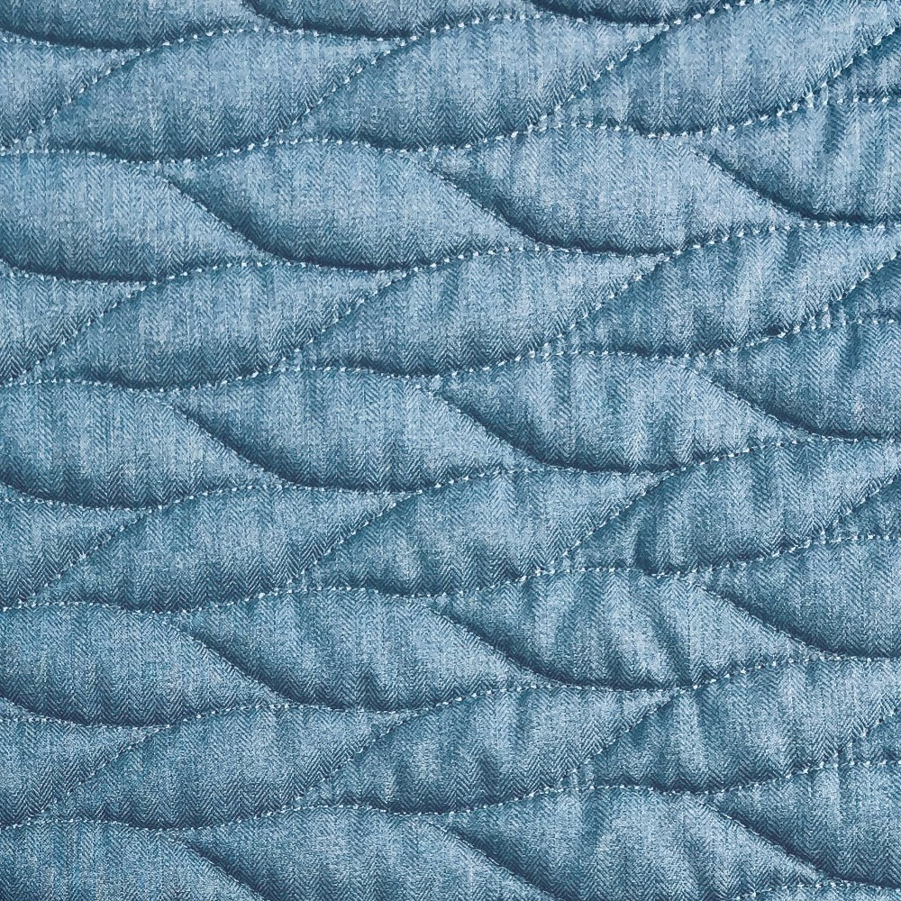 Quilted Fabric 56in Pre Quilted Fabric Blue