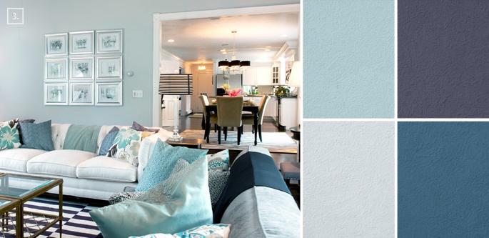 Ideas for Living Room Colors Paint Palettes and Color Schemes - living room color combinations
