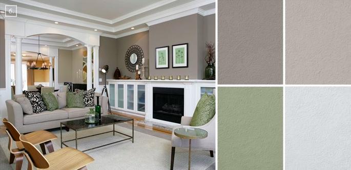 Ideas for Living Room Colors Paint Palettes and Color Schemes - living room paint color