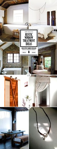 Rustic Window Treatments and Curtain Ideas