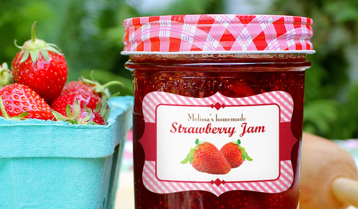 Jar Labels, Jam and Jelly Labels StickerYou Products - StickerYou