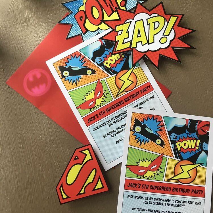 superhero birthday party invitations - Akbagreenw