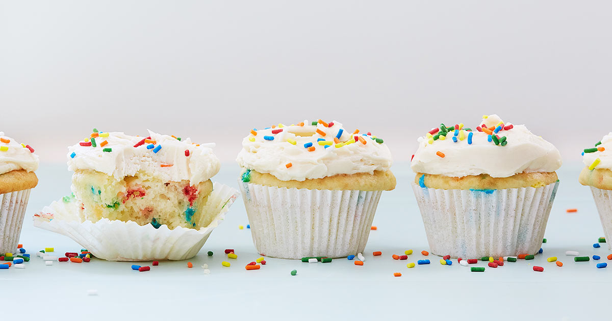 Birthday Cupcakes with White Wine Buttercream - PureWow