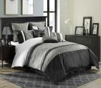 White Black And Grey Bedding   www.imgkid.com - The Image ...