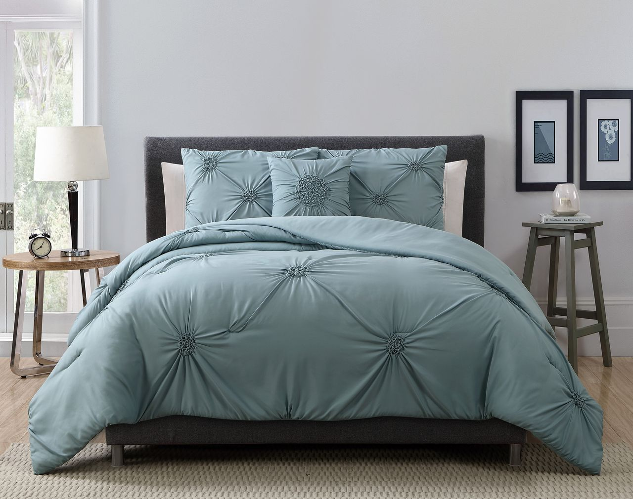 Charcoal Grey Bedding 8 Piece Paige Charcoal Gray Bed In A Bag Set