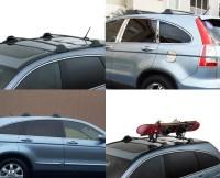 Sell 2007-2011 HONDA CRV BLACK ALUMINUM TOP ROOF RACK ...