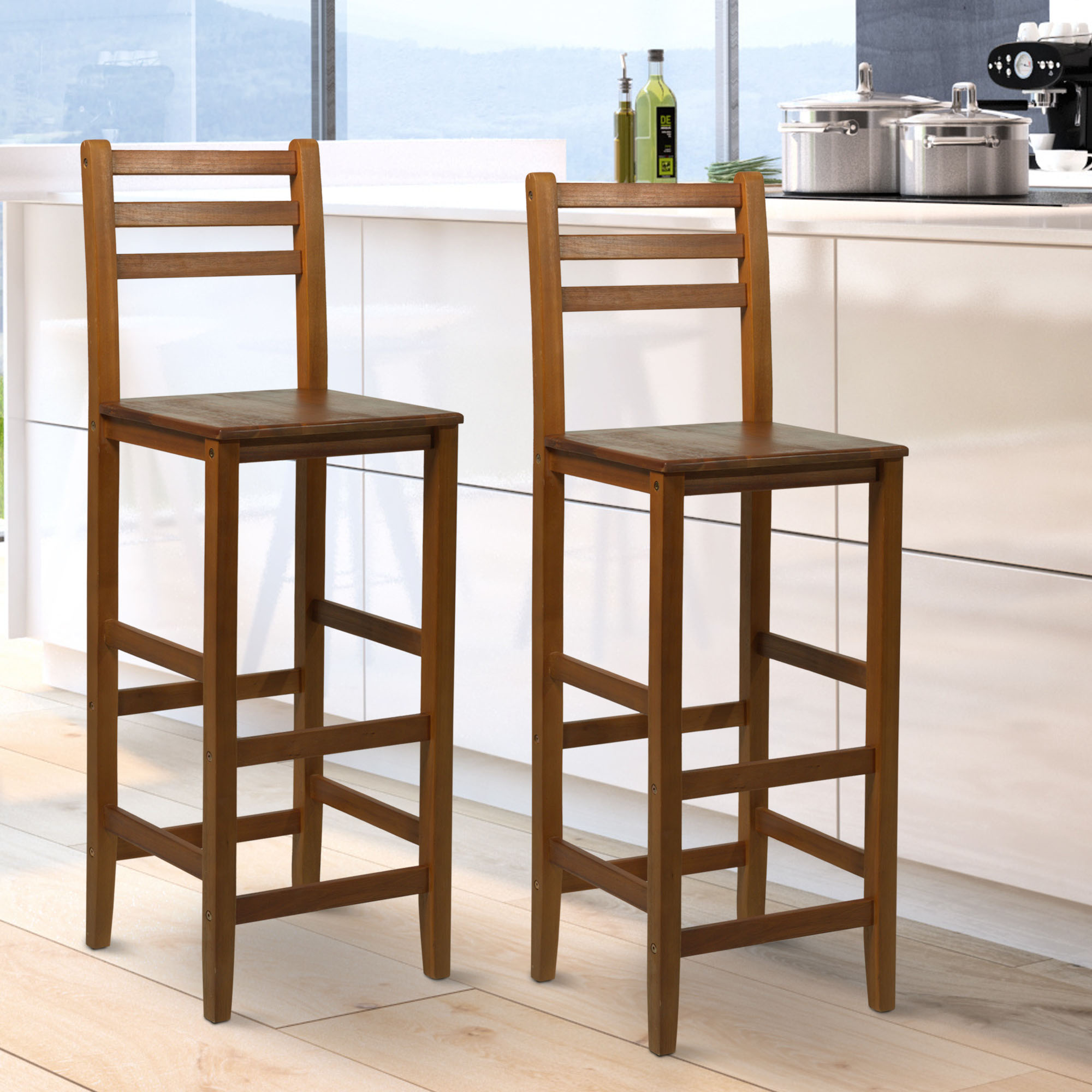 Bar Stool Chairs Details About 2pc 43