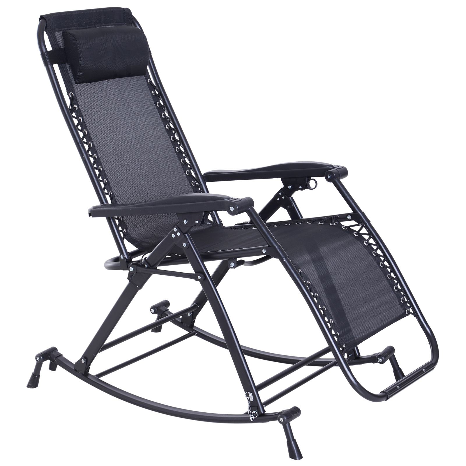 Outdoor Recliner Lounge Zero Gravity Recliner Lounge Chair Patio Rocker Home