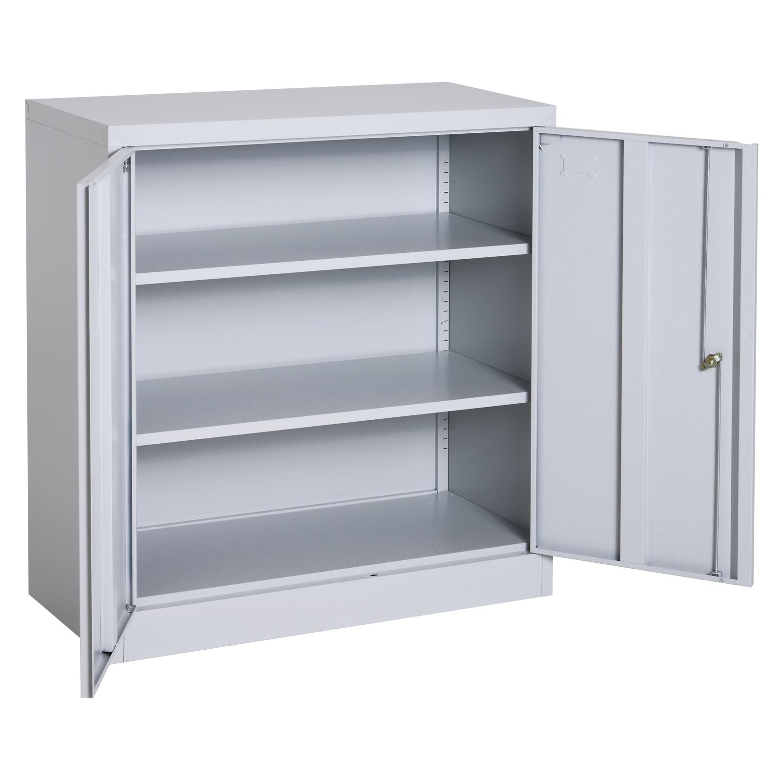 36 Freestanding Steel Utility Storage Cabinet Bookcase