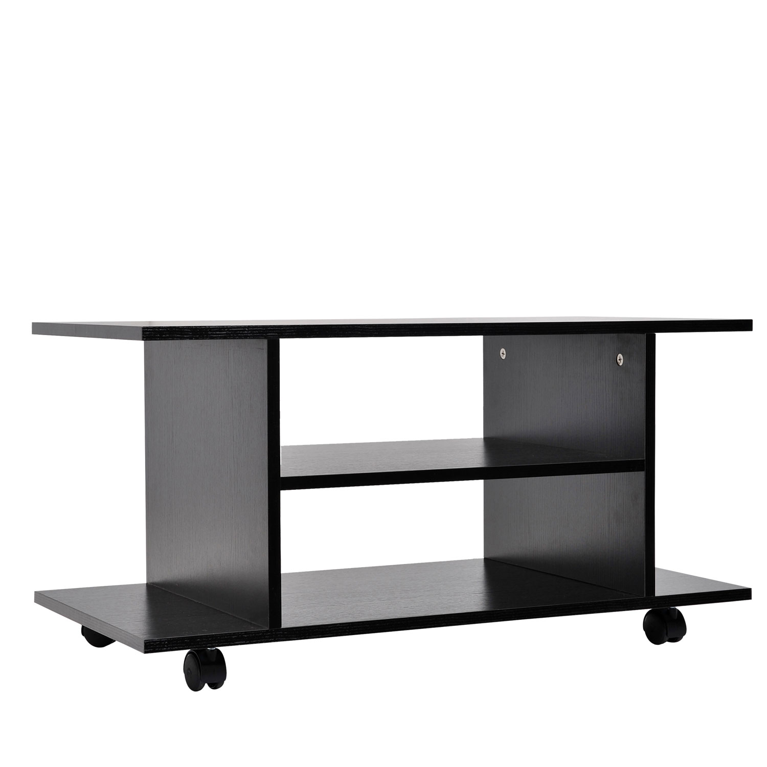 Tv Stand With Wheels Modern Tv Cabinet Stand 3 Tier Shelf Storage Shelves Table