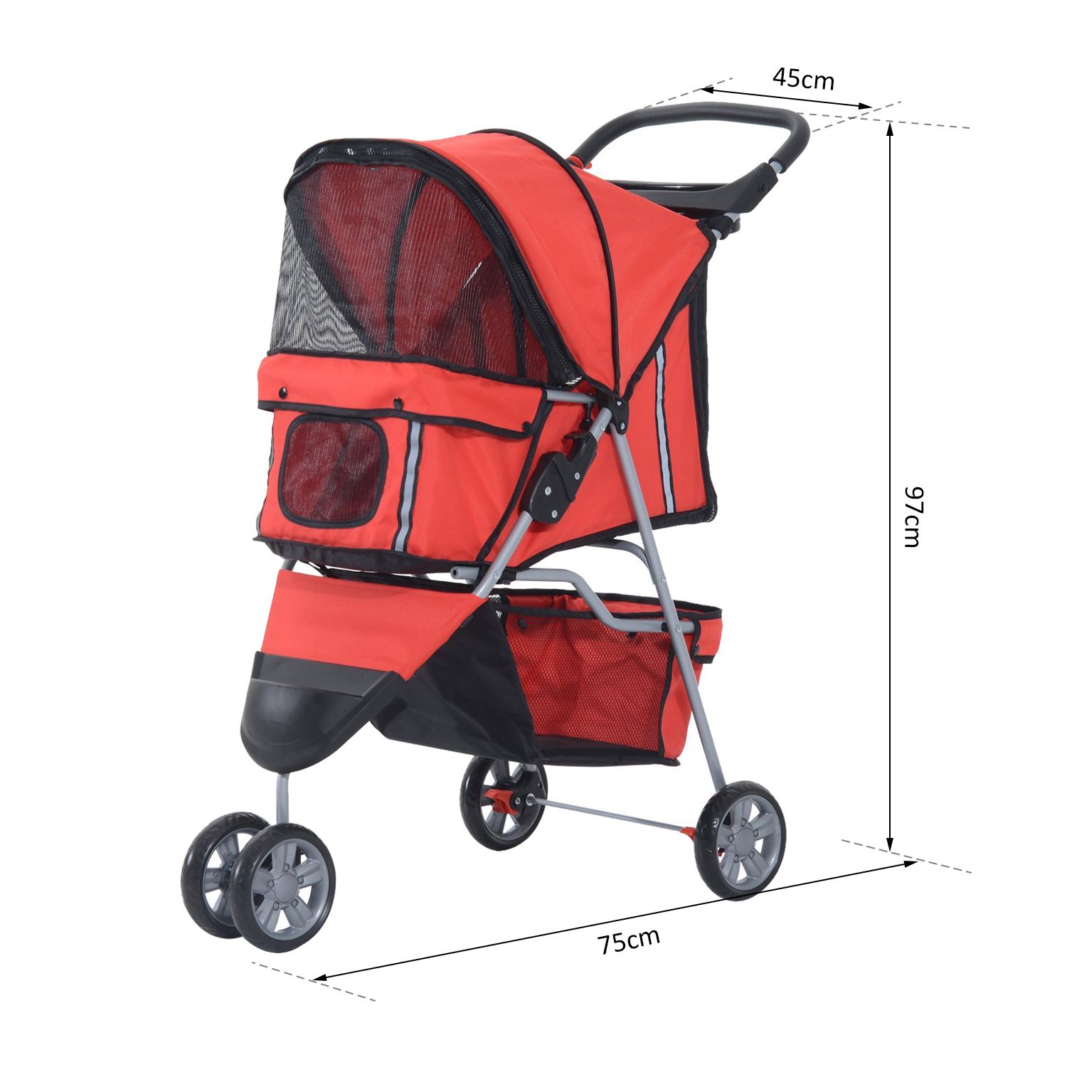 Oxford Pet Stroller Ebay Pet Travel Stroller Cat Dog Pushchair Puppy Jogger Carrier Three Wheels 5 Colour