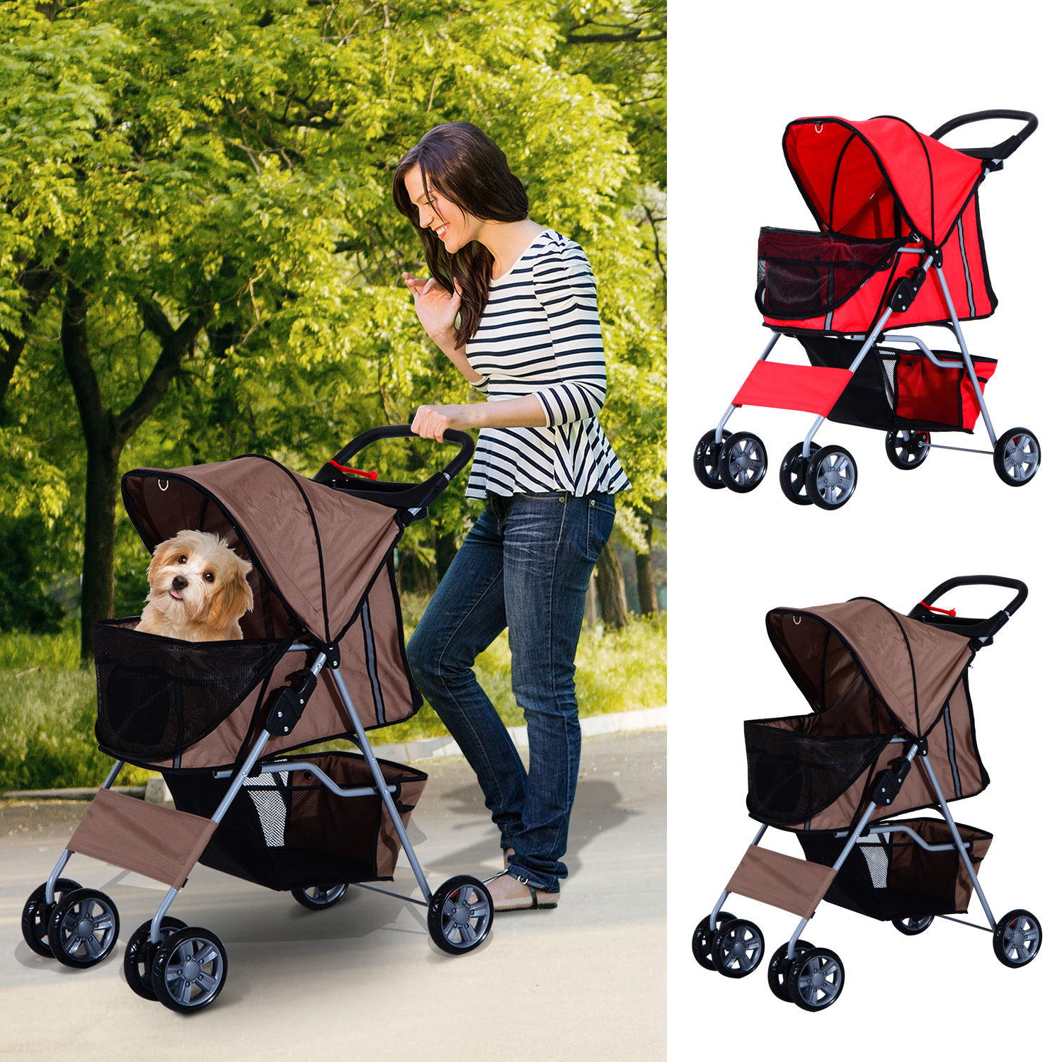 Oxford Pet Stroller Ebay Details About Pet Puppy Cat Dog Travel Stroller Pushchair Jogger Carrier Awivel Wheels Buggy