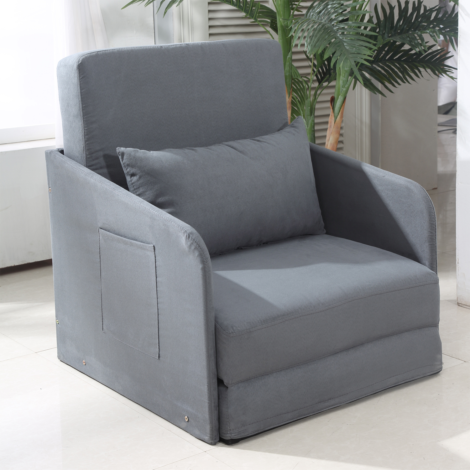 Single Sofa Bed Armchair Soft Floor Sleeper Lounger Futon Couch W - Single Sofa Bed Chair