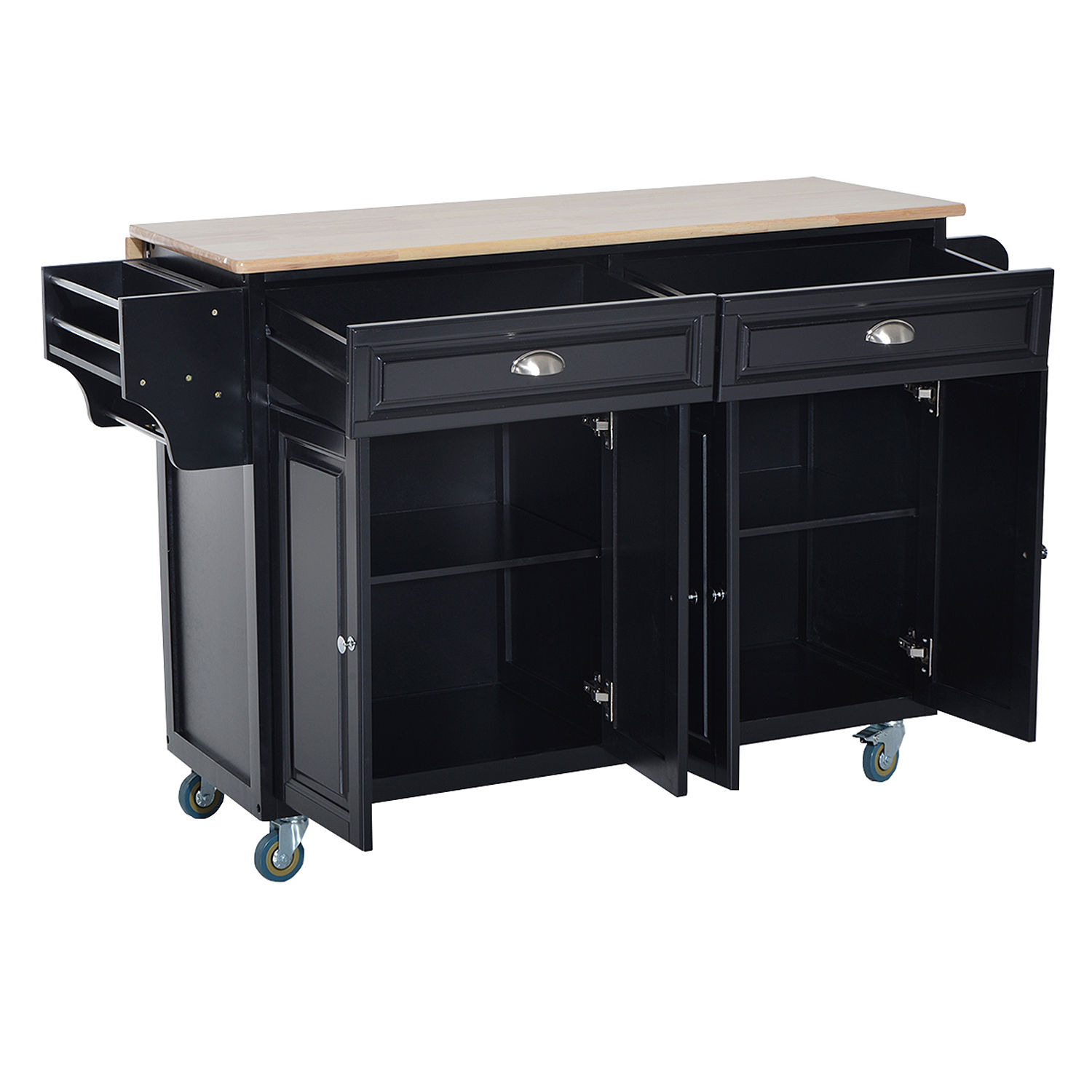 Utility Kitchen Cabinet Modern Kitchen Cart Island Rolling Cabinet Utility Wood