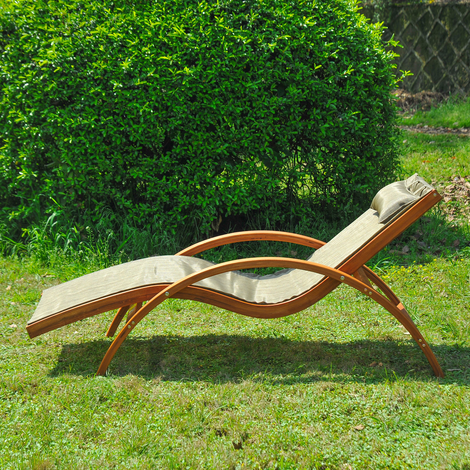 Outdoor Chaise Lounge Wooden Patio Chaise Lounge Chair Outdoor Furniture Pool